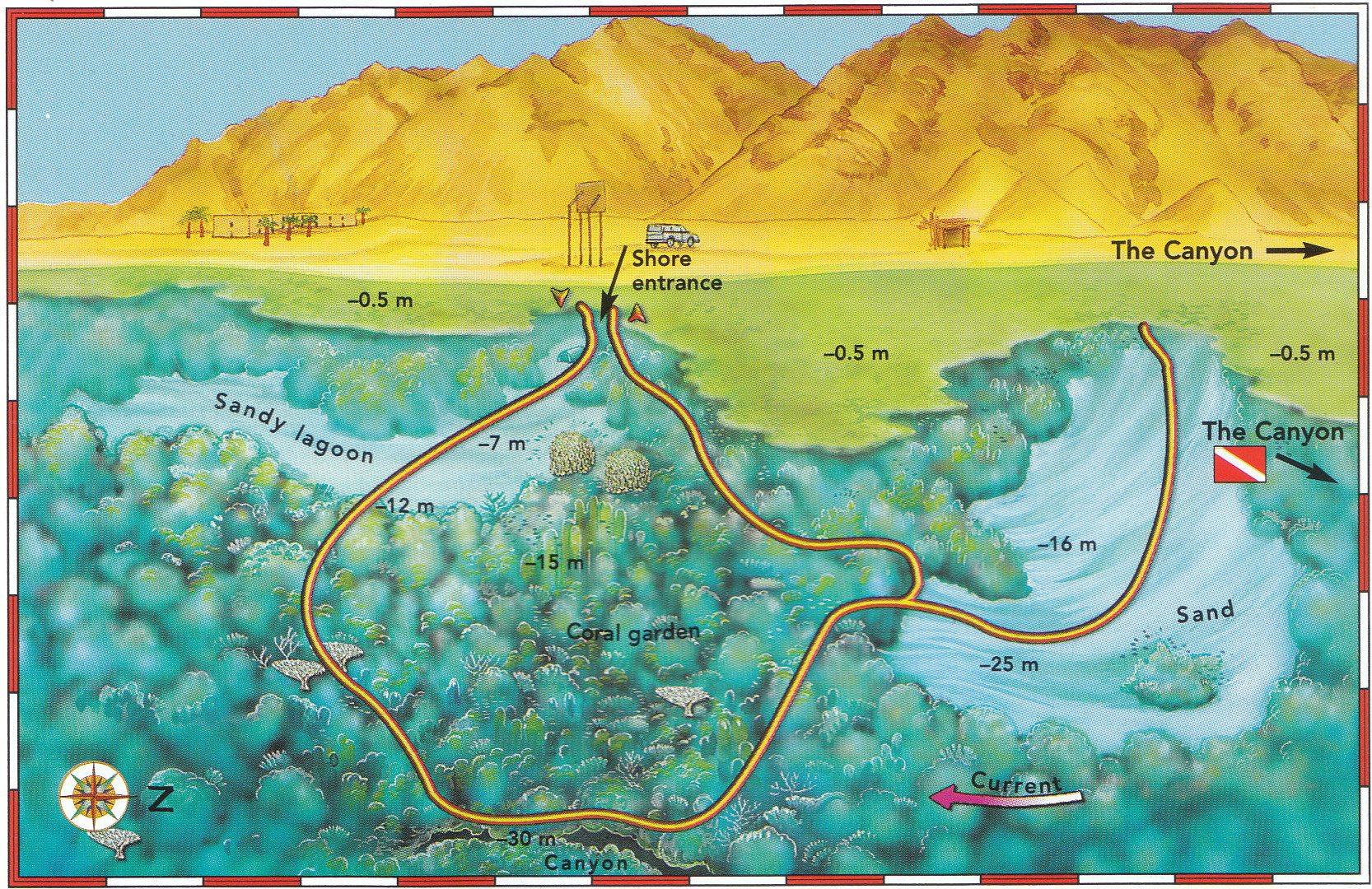 Abu Helal Big Blue Dahab - Map of egypt dahab