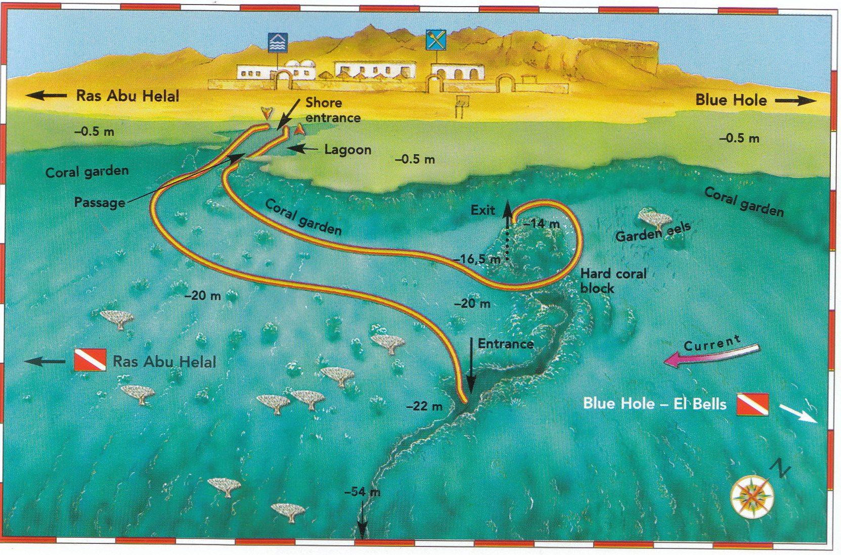 Canyon Big Blue Dahab - Map of egypt dahab